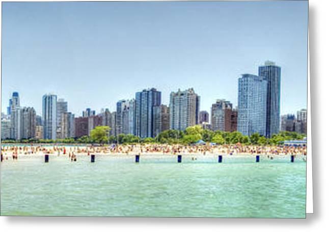Chicago North Avenue Beach Greeting Card by Patrick  Warneka
