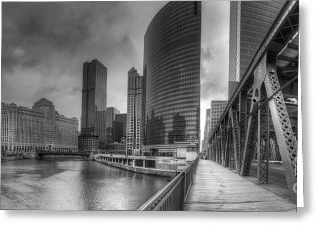 Chicago River From Lake Street Bridge Greeting Card by Twenty Two North Photography