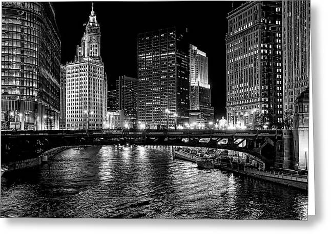Chicago River Greeting Card by Jeff Lewis