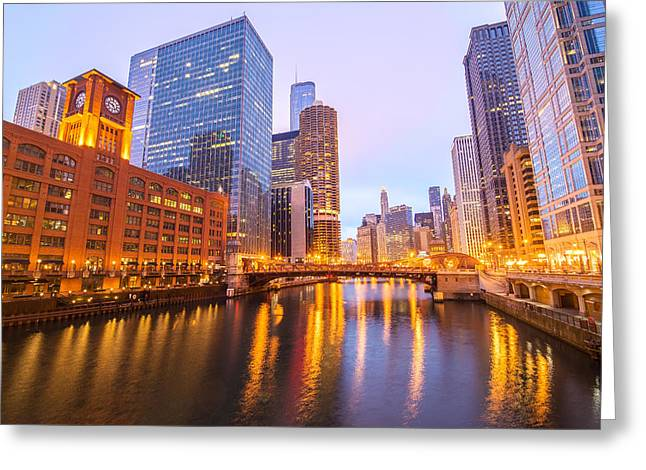 Chicago River View Greeting Card by Jess Kraft