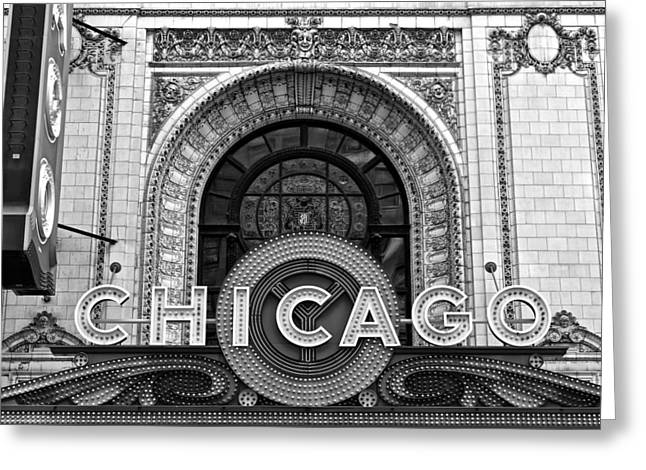 Chicago Theater Marquee Greeting Card