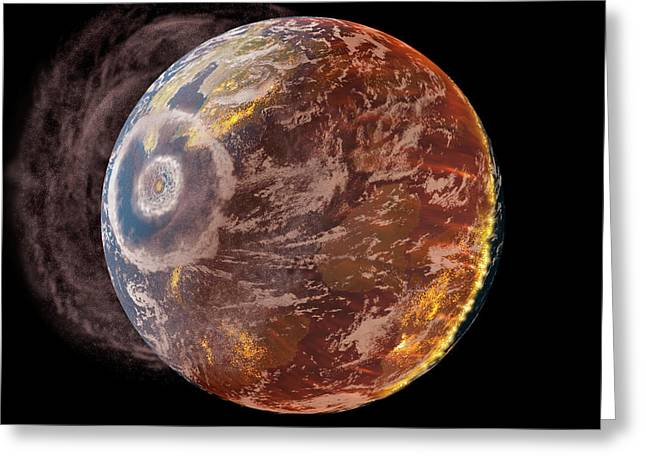 Chicxulub Impact Event Greeting Card by Chris Butler