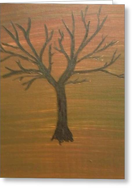 Children's Tree Greeting Card by April  Weller