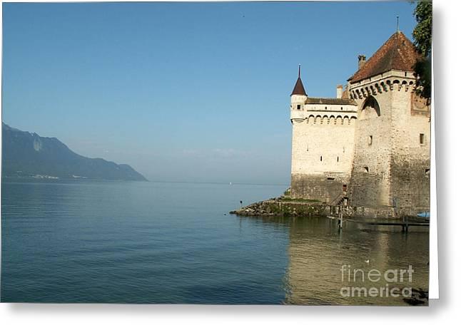 Chillon Castle Greeting Card by Evgeny Pisarev
