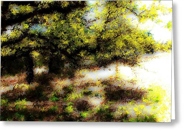 Chime Tree Greeting Card by Terence Morrissey