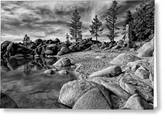 Chimney Beach Lake Tahoe Greeting Card by Scott McGuire