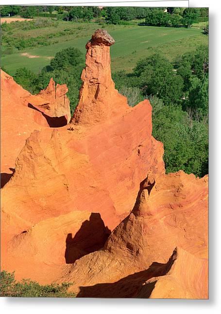 Chimney Rock Formations, Rustrel Greeting Card