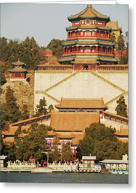 China, Beijing, Summer Palace, Temple Greeting Card