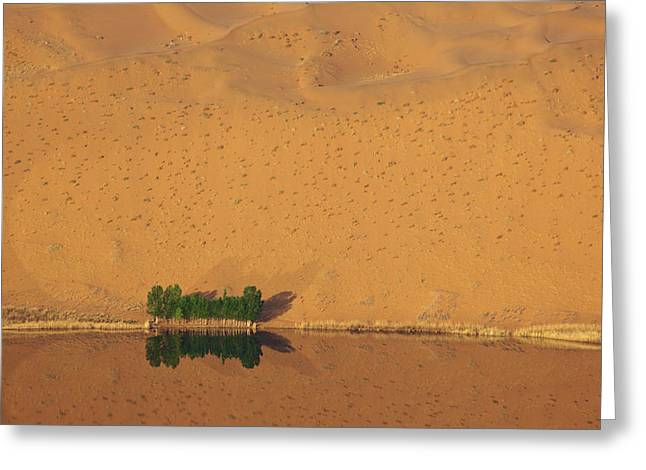 China, Inner Mongolia, Badain Jaran Greeting Card by Jaynes Gallery