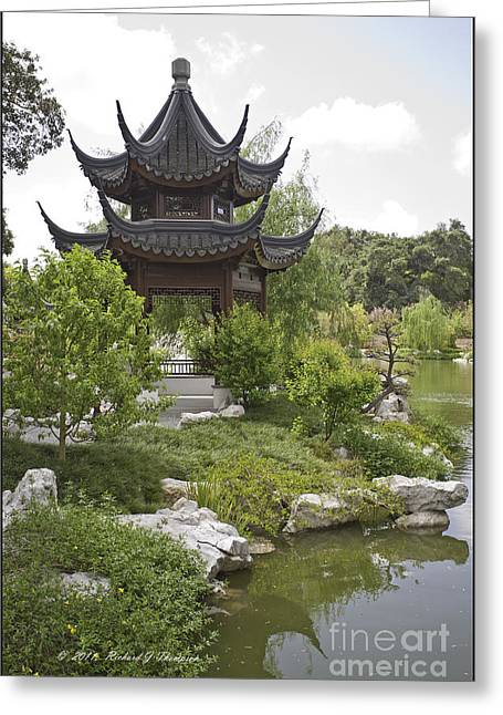 Chinese Water Garden Greeting Card