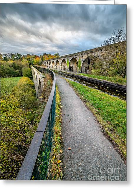 Chirk Aqueduct Greeting Card by Adrian Evans