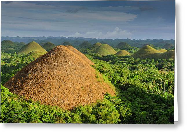 Chocolate Hills, Bohol, Philippines Greeting Card by Michael Runkel
