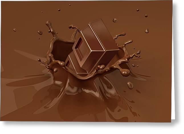 Chocolate Splashing Into Milkshake Greeting Card