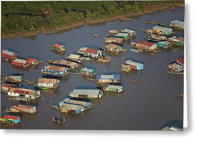 Chong Kneas Floating Village, Tonle Sap Greeting Card