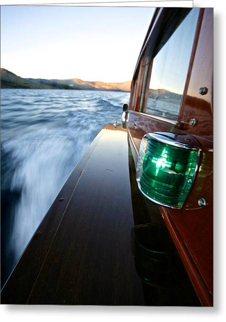 Chris Craft Commuter Greeting Card by Steven Lapkin