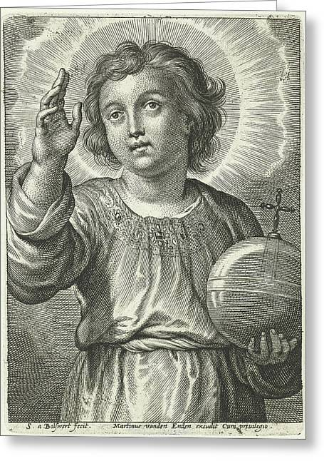 Christ As Salvator Mundi Greeting Card