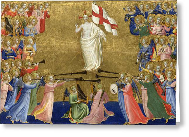 Christ Glorified In The Court Of Heaven Greeting Card