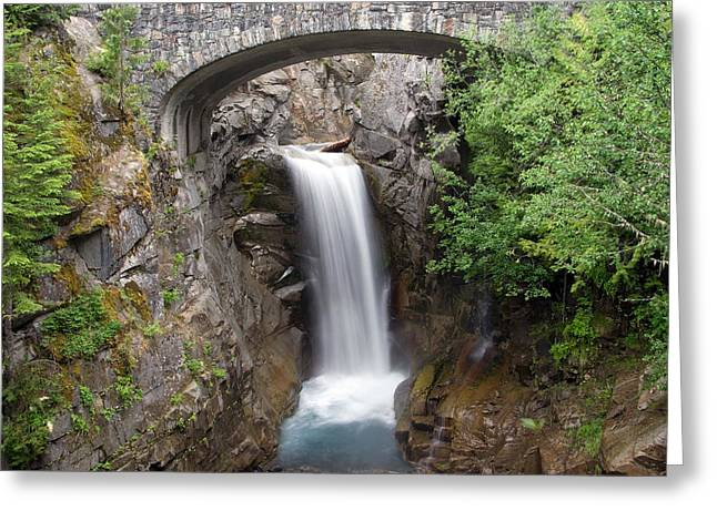 Greeting Card featuring the photograph Christine Falls Mount Rainier National Park by Bob Noble Photography