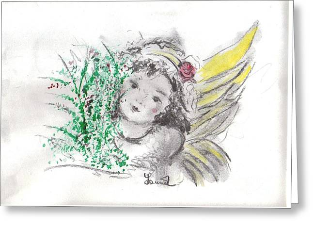 Christmas Angel Greeting Card by Laurie L
