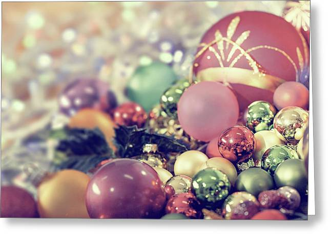 Christmas Baubles Greeting Card by Wladimir Bulgar