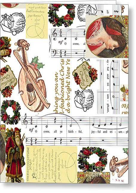 Christmas Collage Greeting Card