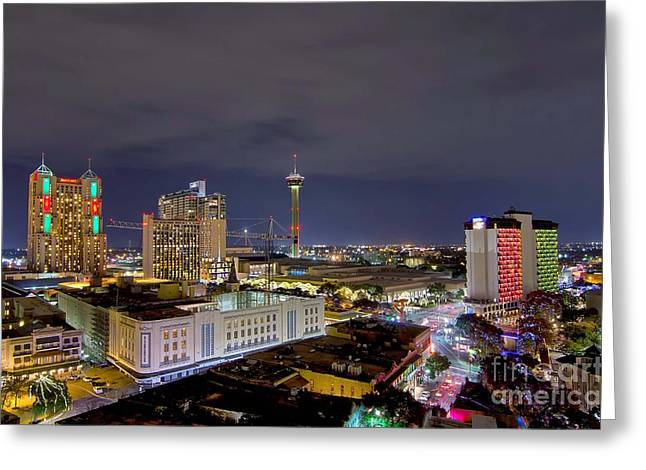 Christmas In San Antonio Greeting Card