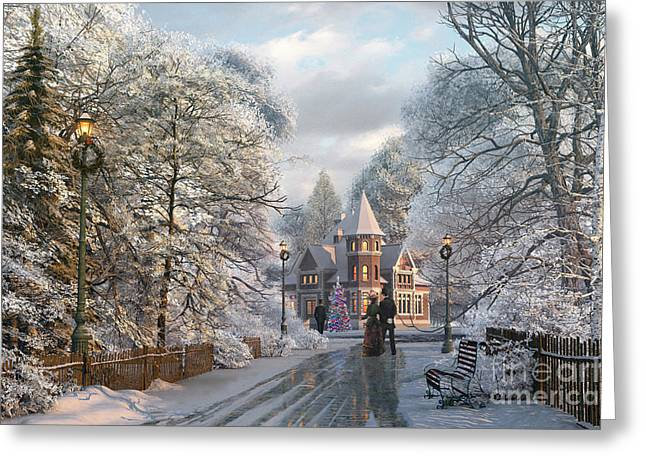 Christmas Invitation Greeting Card by Dominic Davison