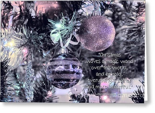 Christmas Magic Greeting Card by Peggy Hughes