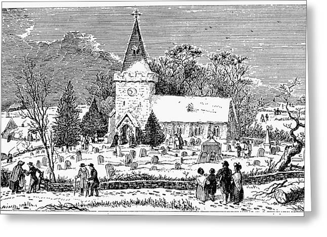 Christmas Morning, 1837 Greeting Card