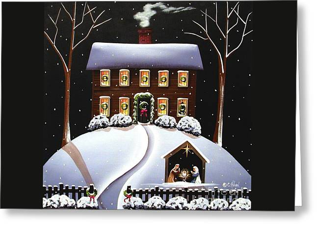Christmas Nativity Greeting Card by Catherine Holman