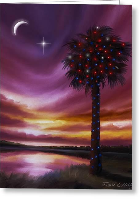 Christmas Palmetto Tree Greeting Card