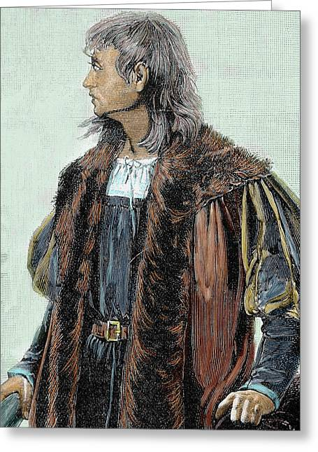 Christopher Columbus (1451-1506 Greeting Card by Prisma Archivo
