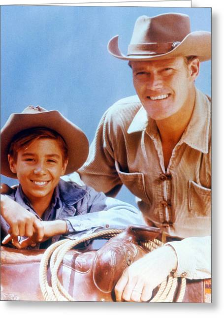 Chuck Connors In The Rifleman Greeting Card by Silver Screen