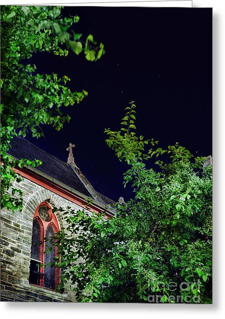 Church Greeting Card by HD Connelly