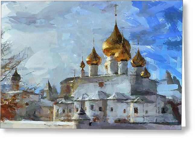Church In Winter Greeting Card by Yury Malkov