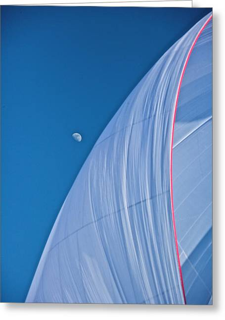 Chute Moon Greeting Card by Steven Lapkin