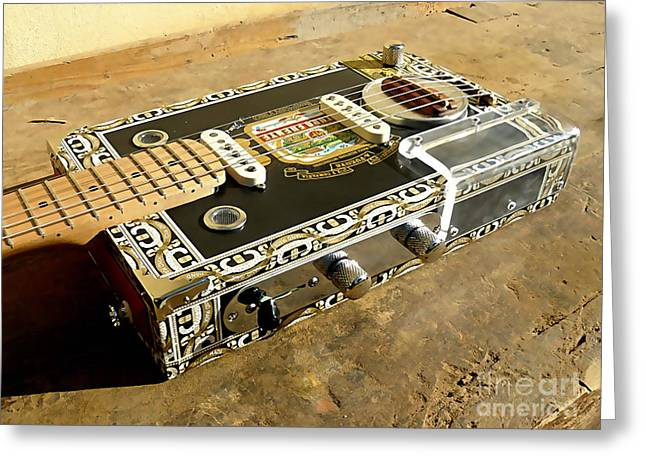Cigar Box Guitar Greeting Card by Marvin Blaine