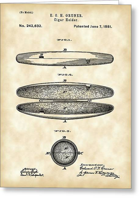 Cigar Holder Patent 1881 - Vintage Greeting Card