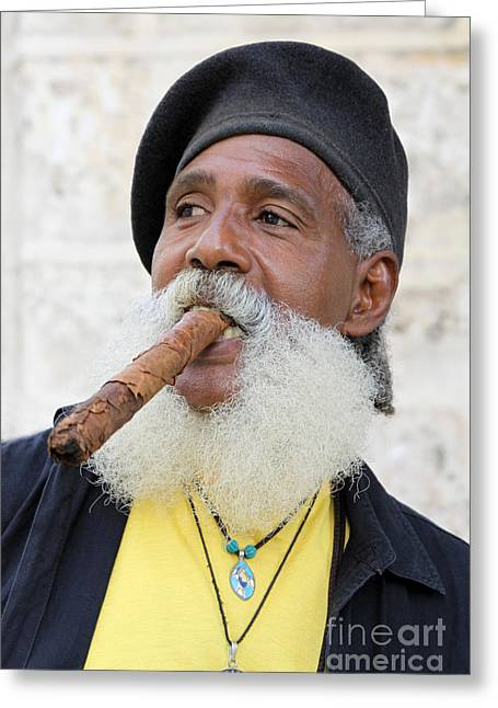 Cigar Man Greeting Card