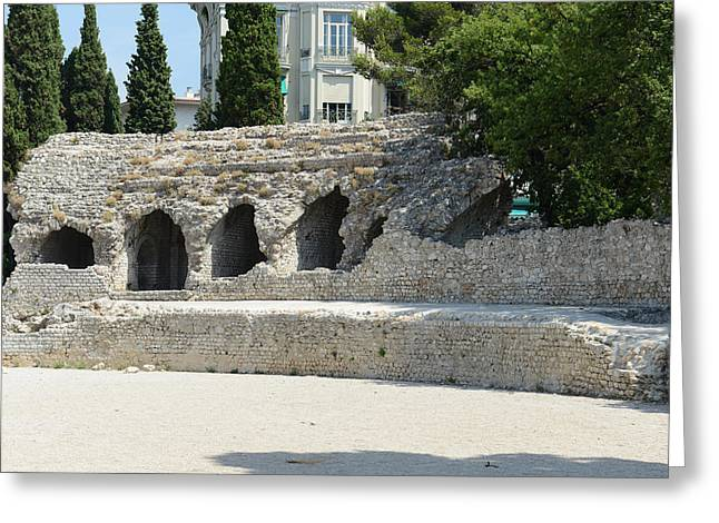 Cimiez Arenas Roman Ruin In Nice France Greeting Card by Brandon Bourdages