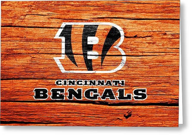 Cincinnati Bengals Barn Door Greeting Card