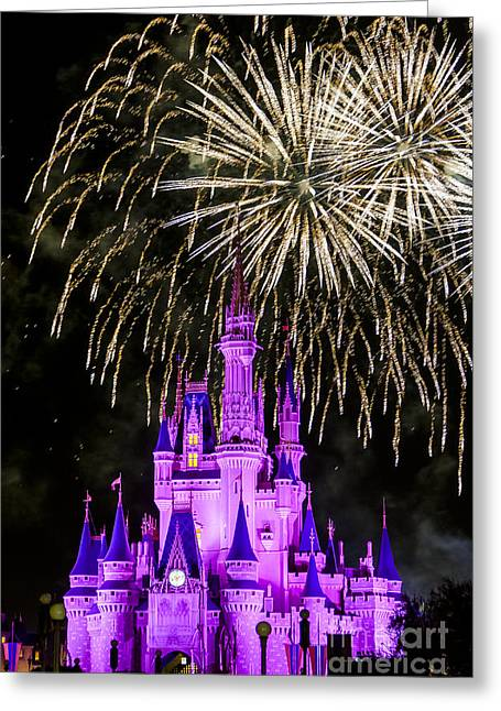 Magic Kingdom Cinderella Castle Greeting Card