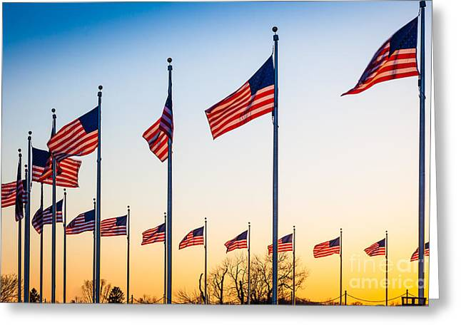 Circle Of Flags Greeting Card by Inge Johnsson