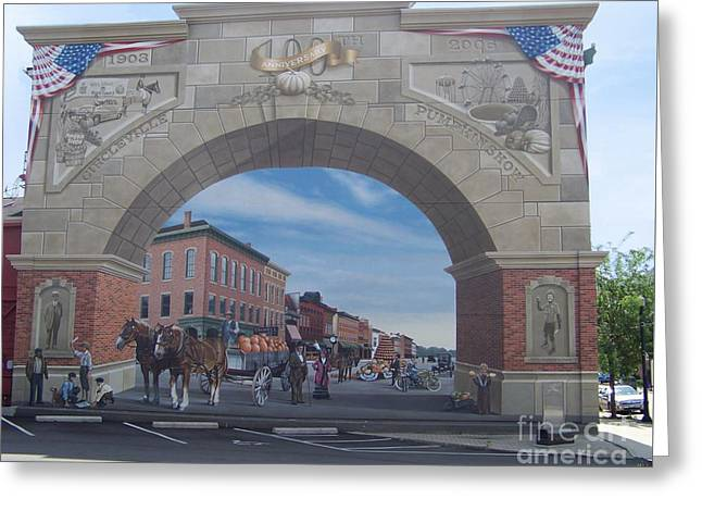 Circleville Pumpkin Show Mural Greeting Card