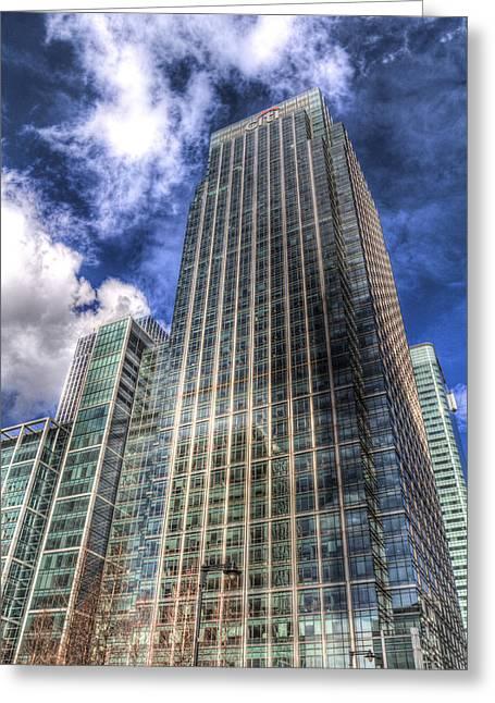 Citi Bank Tower London Greeting Card by David Pyatt