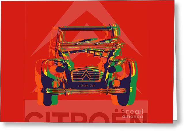 Citroen 2cv Greeting Card