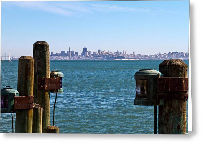 City By The Bay Greeting Card by Bernard  Barcos