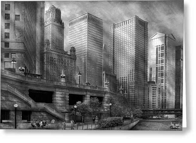 City - Chicago Il - Continuing A Legacy Greeting Card by Mike Savad