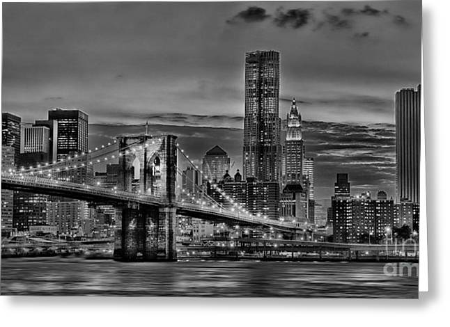 City Of Lights Greeting Card by Arnie Goldstein