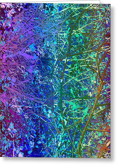 City Roads Map  Night Vision Neon Colors  Digital Graphic Conversion Enhancements Magical Signature  Greeting Card